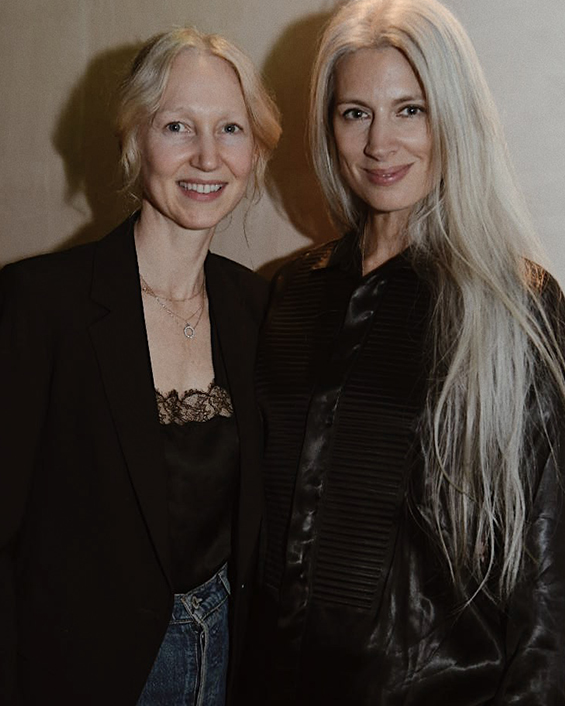 Miranda Almond from Harpers Bazaar & Sarah Harris from Vogue