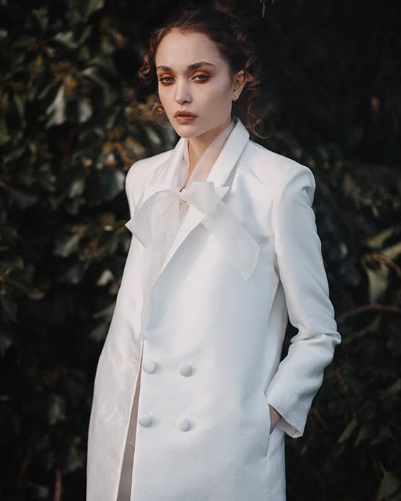 Halfpenny bridal in crisp white