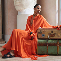 Amanda Wakeley orange dress