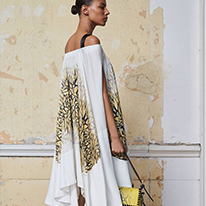 Amanda Wakeley white and gold accent