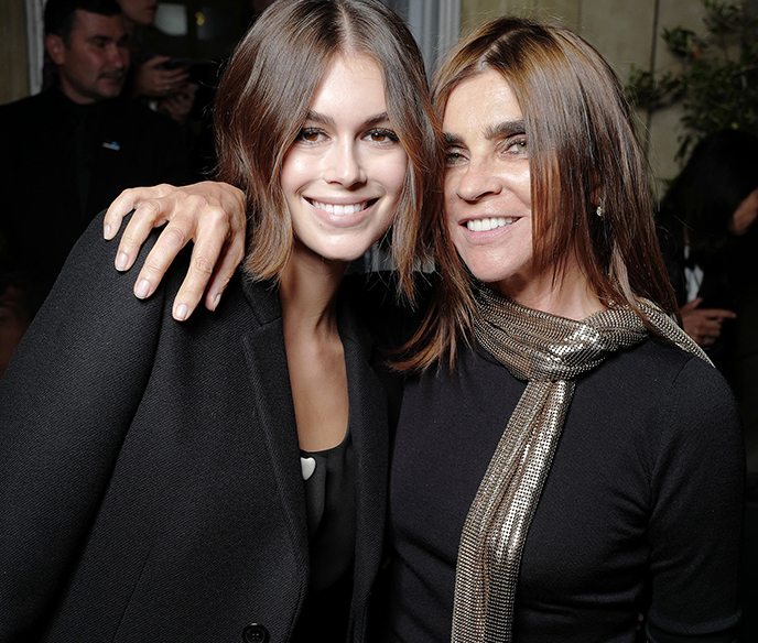 Forever Karl Guests Kaia Gerber & Carine Roitfeld