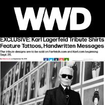 Karl Lagerfeld and WWD