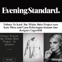 Karl Lagerfeld and The Evening Standard