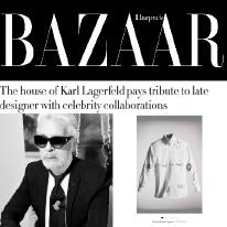 Karl Lagerfeld and Harper's Bazaar