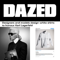 Karl Lagerfeld and Dazed