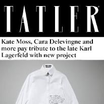 Karl Lagerfeld and Tatler